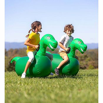 Inflatable Ride-On Hop 'n Go Dinosaurs, Set of Two