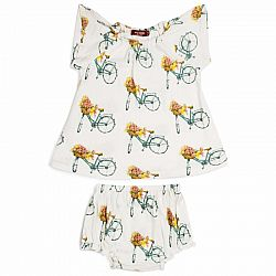 Floral Bicycle Dress & Bloomer Set 6-12 Months