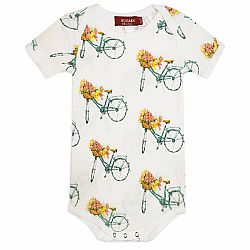 Floral Bicycle One Piece 3-6 Months