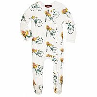 Floral Bicycle Footed Romper 3-6 Months