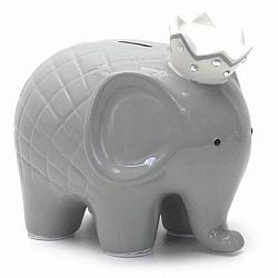 Grey Coco Elephant Bank