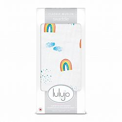 Lulujo Rainbow Sky Cotton Swaddle