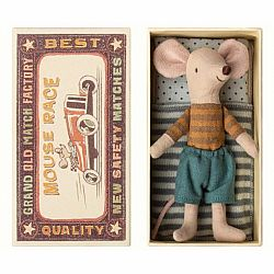Maileg Big brother mouse in a matchbox