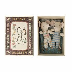 Maileg twin mice in a matchbox