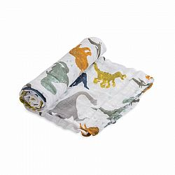 Dino Friends Cotton Muslin Swaddle
