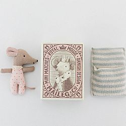 Maileg Tiny mouse in a matchbox